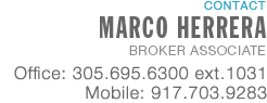MARCO HERRERA, Broker Associate, Douglas Elliman Real Estate - Florida Real Estate